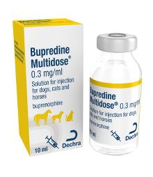 Bupredine Multidose 0.3 mg/ml solution for injection for dogs, cats and horses