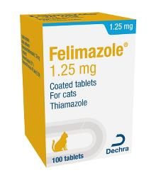 Felimazole® 1.25 mg coated tablets for cats