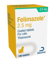 Felimazole® 2.5 mg coated tablets for cats