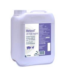 Metaxol 20/100 mg/ml solution for use in drinking water for pigs and chickens