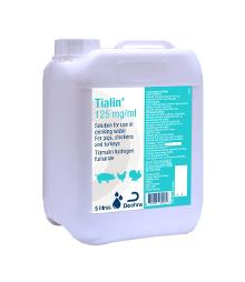 Tialin 125 mg/ml solution for use in drinking water for pigs, chickens and turkeys