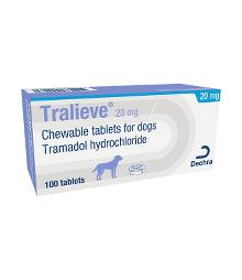 Tralieve 20 mg chewable tablets for dogs