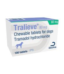 Tralieve 80 mg chewable tablets for dogs